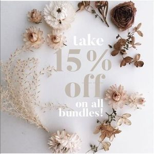 Take an additional 15% off bundles